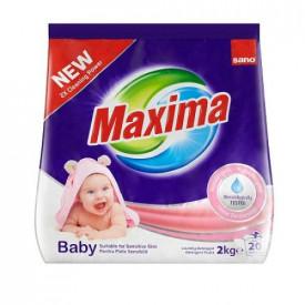 Detergent rufe pudra Sano Maxima Baby 2Kg