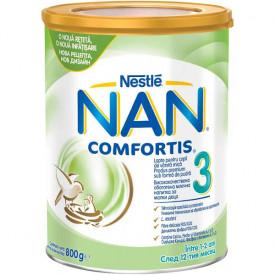 Lapte praf Nestle NAN 3 Comfortis, de la 12 luni, 800g