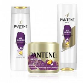 Pachet promo Pantene Pro-V Superfood: Sampon, 360 ml + Balsam de par 270ml + Masca de par 300ml