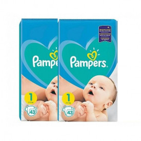 Pachet 2 x Scutece Pampers Active Baby Marimea 1, Nou Nascut, 2 -5 kg, 43buc (86buc)