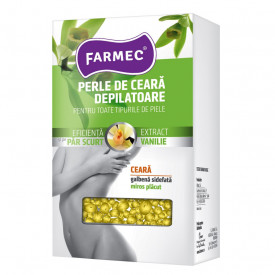 Perle de ceara depilatoare Farmec, Vanilie, 250 g