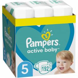 Scutece Pampers Active Baby XXL Box Marimea 5, 11-18 kg, 192 buc (3x64)