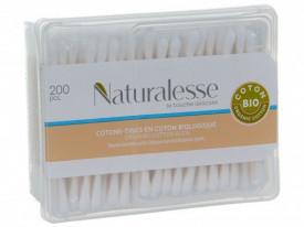 Betisoare cosmetice Naturalesse bumbac organic, Cutie 200 buc