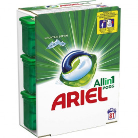 Detergent capsule Ariel 3in1 PODS Mountain Spring, 81 spalari