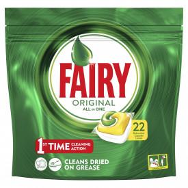 Detergent de vase capsule Fairy All in One, 22 buc