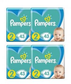 Pachet 4 x Scutece Pampers Active Baby XL Box Marimea 2, Nou Nascut, 4 -8 kg, 43buc (172buc)