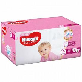 Scutece Huggies Ultra Comfort Nr.4, Fetite, 8-14 kg, 100 buc