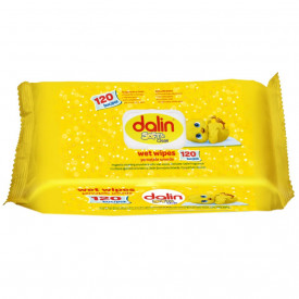 Servetele umede Dalin, Soft&Clean, 120 buc