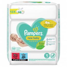 Servetele umede Pampers New Baby, 12 pachete x 50 buc (600 bucati)