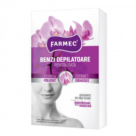 Benzi depilatoare pentru fata Farmec, Orhidee, 10 x 2 buc