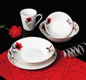 BOL PORTELAN 20 CM, RED FLOWERS