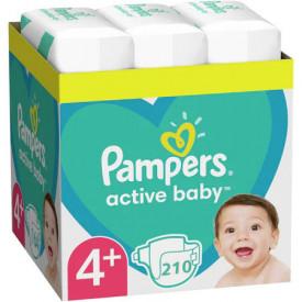 Scutece Pampers Active Baby XXL Box Marimea 4+, 9-16 kg, 210 buc (3x70)