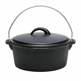 Ceaun si capac, din fonta pura, 25 x10 cm, 3.5L
