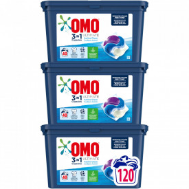 Detergent capsule Omo Ultimate Active Clean Trio Caps, 120 Spalari