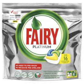 Detergent de vase capsule Fairy Platinum All in One, 16 buc