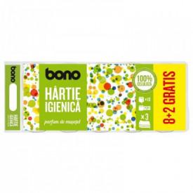 Hartie igienica Bono, 8+2 role, 3 straturi