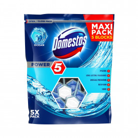 Odorizant toaleta Domestos Power 5 Maxi Pack Ocean, 5 x 55 g