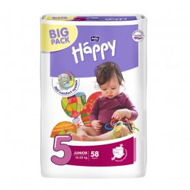 Scutece Happy Junior 5, 12-25 kg Big Pack, 58 buc