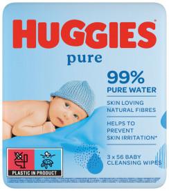 Servetele umede Huggies Pure, 12 pachete x 56, 672buc