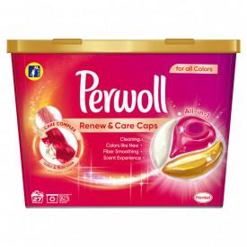 Detergent capsule Perwoll Renew & Care, Color, 27 spalari