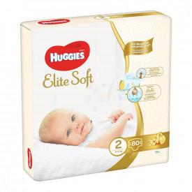 Scutece Huggies Elite Soft Nr.2, 4-6 kg, 80 buc
