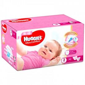 Scutece Huggies Ultra Comfort Nr.3, Fetite, 5-9 kg, 112 buc
