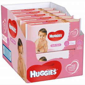 Servetele umede Huggies Soft Skin, 12 pachete x 56, 672 buc
