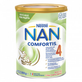 Lapte praf Nestle NAN 4 Comfortis, de la 2 ani, 800g