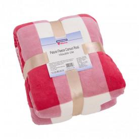Patura Fleece Carouri Rosii 150x200 cm