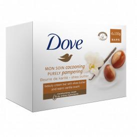 Sapun crema Dove Shea Butter, 4 bucati x 100 g