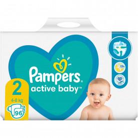 Scutece Pampers Active Baby Giant Pack Marimea 2, Nou Nascut, 4 -8 kg, 96 buc