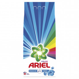 Detergent automat pudra Ariel Touch of Lenor Fresh, 80 spalari, 8kg