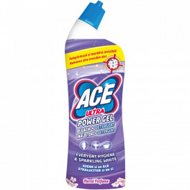 Inalbitor si degresant toaleta Ace Ultra Power gel Floral, 750ml