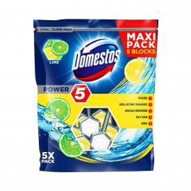 Odorizant toaleta Domestos Power 5 Maxi Pack Lime, 5 x 55 g