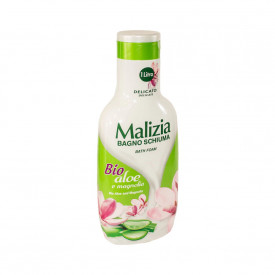 Spuma de baie Malizia cu Aloe Bio si Magnolie 1L