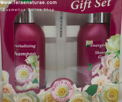 Set Cadou Natural White Rose