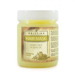 Mască pentru păr normal cu miere, lapte și ulei de măsline