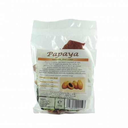 Papaya bucati uscate, deshidratate, fara zahar, 150g