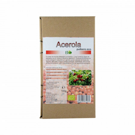 Acerola liofilizata pulbere (pudra) bio eco 100g