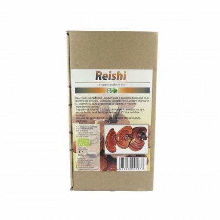 Ciuperci Reishi (Ganoderma Lucidum) pudra, BIO 100g