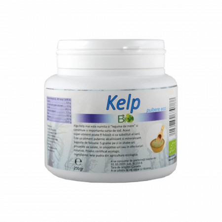 Kelp pulbere, BIO 250g
