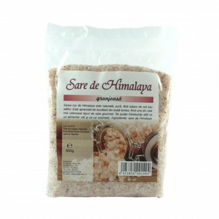 Sare de masa, Himalaya grunjoasa, 100% naturala, 500 g