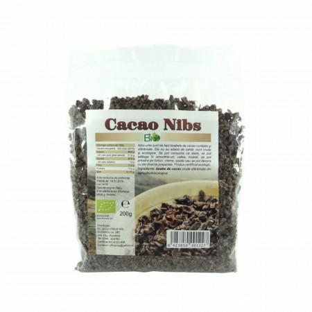 Cacao nibs crude, RAW BIO 200g