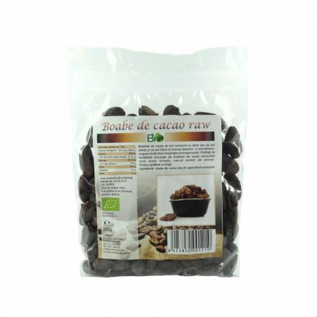 Boabe de cacao crude, RAW BIO 200g