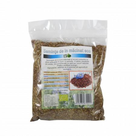 Seminte de in macinate, BIO 250g