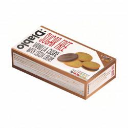 Biscuiti sandvis cu aroma de vanilie si crema de cacao Diablo, fara zahar, 176g