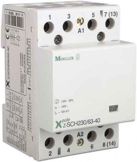Contactor modular Eaton 248852 - Z-SCH230/40-40-Contactor modular 40A, 4ND, cda 230V