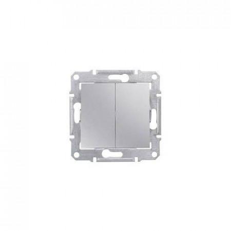 Intrerupator Schneider SDN0300460 Sedna - INTRERUPATOR DUBLU IP44, 10 AX - 250 V Aluminiu