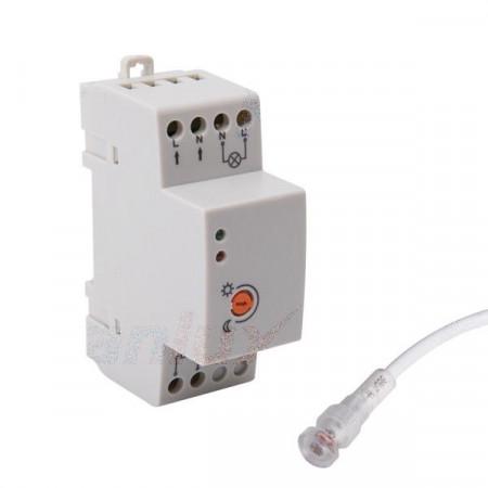 Senzor crepuscular Kanlux 22370 - Intrerupator crepuscular AZ-10A TH 35 cu releu pe sina DIN