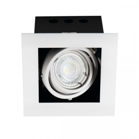 Spot Kanlux 26480 MERIL - Spot dublu incastrat, directional GU10, 1x35W, IP20, alb/negru